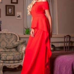 Evening dress. MINT, Raspberry, SAND, RED