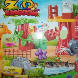 The designer the Zoo - analog of Lego Duplo with a sound