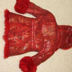 Children's natural sheepskin coat