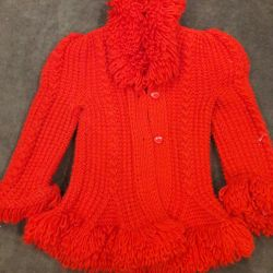 Knitted jacket for girls