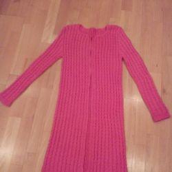 Cotton cardigan, pink coral, 42-44