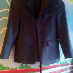 Піджак шкільний 122-128 сірий