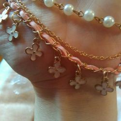 Браслет ,, Райський квітка ,, з перлами ...