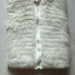 Waistcoat with natural fur
