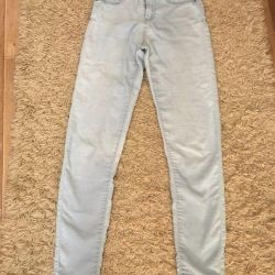 Light blue jeans shortened from CROPP