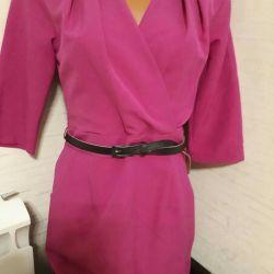 New dress with decollete bright fuchsia