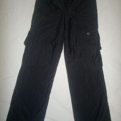 Pants on fleece.
