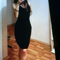 Продам Платье PROMOD, шикарное,черный бархат,44