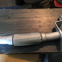 Corrugated receiving pipe for Accent