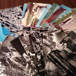 Postcards with views of cities in the USSR