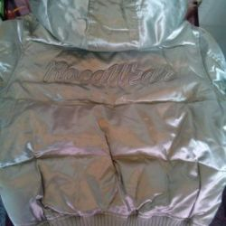 Down jacket new 44-46 silver