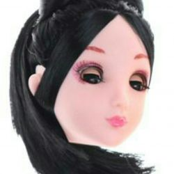 Slap eyelashes! Barbie's head.