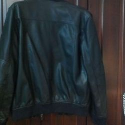 Leather, men's jacket