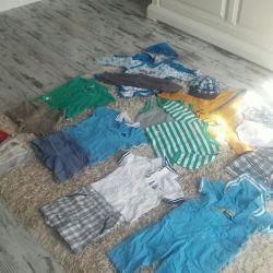 Пакет летней одежды на мальчика 6-12 мес