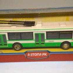 Trolleybus new metal in the Box