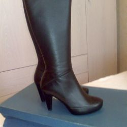 New leather boots.