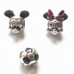 Charms Disney Minnie and Mickey Mouse.