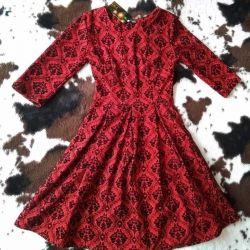 Yeni kırmızı elbise rr 44
