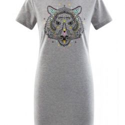 Cool dress with a tiger