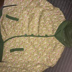 Μπλούζα με βελούδινη φούστα Ιαπωνικού στιλ