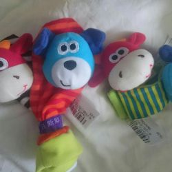 Toys bracelets and socks
