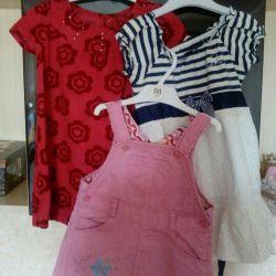 Sundress + 2 rochii pentru ~ 3 ani