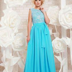 Albastru rochie seara