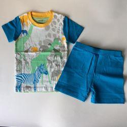 Costum de vară nou 78-90,88-100cm