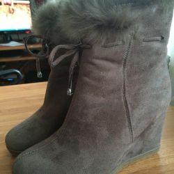 Kış ayak bileği botları