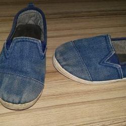 Слипоны джинсовые