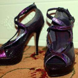 Pantofi cu pantofi cu înălțime înaltă deschisă 36