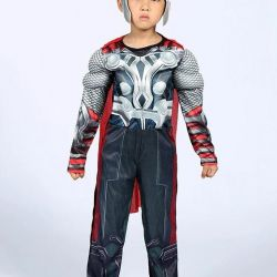 Carnival costume Thor with musculature