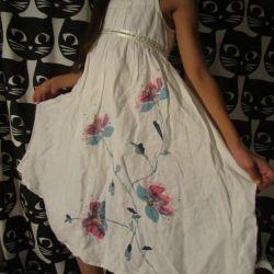 Платье лен для девочки