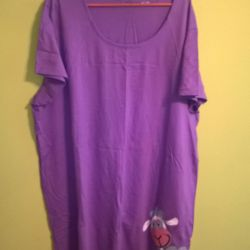 T-shirt long 64 sizes violet