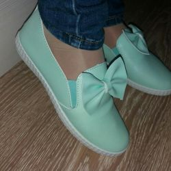 Ballet shoes mint