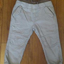 Вельветовые джинсы 86см