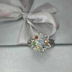 The ring is made of test silver 925