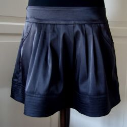 Black satin skirt p. 48