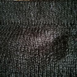 Knitted skirt without seams.