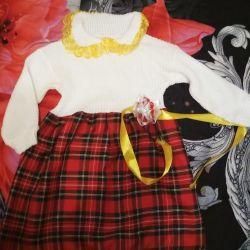 Warm dress, used, 4-6 years