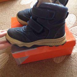 Ботинки для мальчика зимние р.29, кожа/мех натур