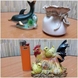 vase, figurines