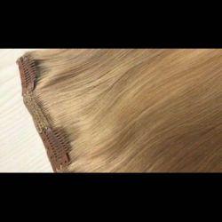 Волосы на заколках клипсах 60см