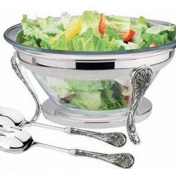 Brittany salata kasesi, servis kaşığı, çatal