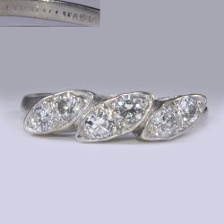Ring with diamonds 0.6 carat white gold 585