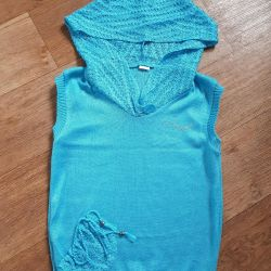 Lightweight new sleeveless jacket, 42, for a low