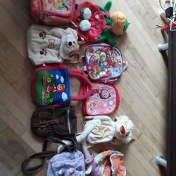Children's backpacks. Changing