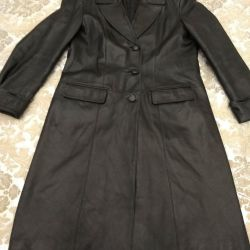 Leather coat for women 50-52size