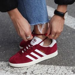Adidas Gazelle OG suede burgundy with white