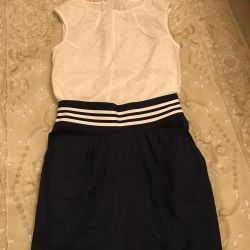 Blouse and skirt for a girl 134-140 height